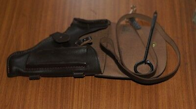 LEATHER Holster with lanyard for Makarov pistol PM BROWN