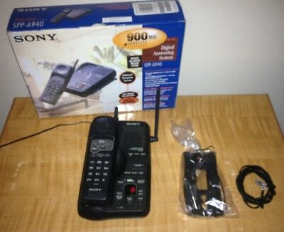 Vintage 90s Sony SPP-A940 900MHz Cordless Phone w/ Answering System Nice