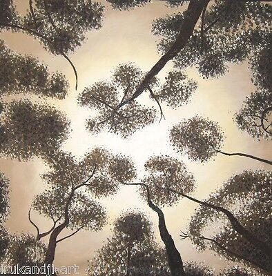 "47"" Tree's Of heaven Change Colours  Oil Painting Aboriginal Landscape By Jane"