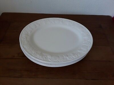 British Home Stores Lincoln Oval Steak Plates X 6 Bhs