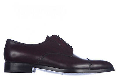 Prada Men's Classic Leather Lace Up Laced Formal Shoes New Derby Bordeaux Ad7