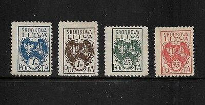 CENTRAL LITHUANIA - 1920-1921, Polish Occupation