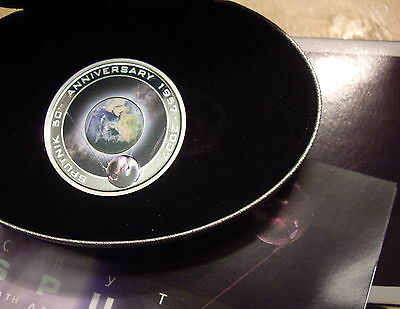 Cook Islands 2007 Sputnik - Space  $1 Silver Proof