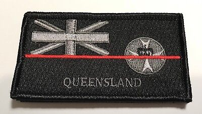 QLD Fire Patch, NSW State Flag, Thin Red Line, Hook Rear, 1 x Item