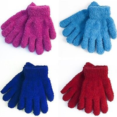 GIRLS KIDS CHILDREN's THERMAL SNOW SOFT WARM MAGIC GLOVES