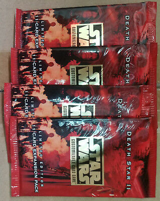 Star Wars CCG Death Star II 4 New, Sealed, Unopened Booster Packs