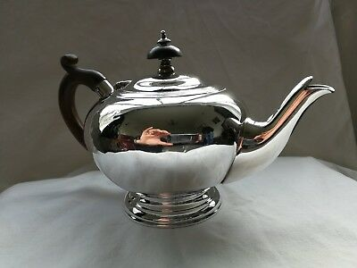 solid silver bullet teapot 1908