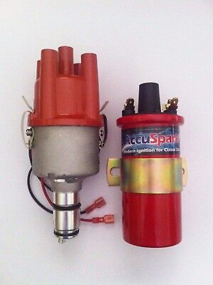 AccuSpark 009 Electronic Distributor & 3 Ohm Sports Coil for VW Beetle & Kombi
