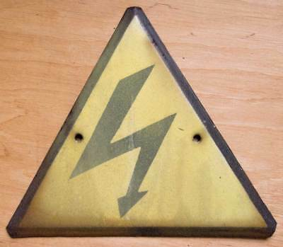 CCCP sign WARNING DANGER Plaque Enamel PORCELAIN INDUSTRIAL electricity Russian