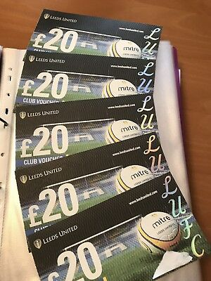 Leeds United £100 Vouchers For £90!!