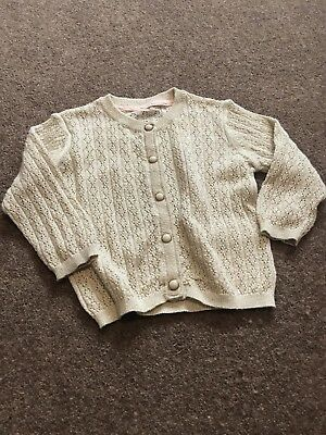 M&S Gold Girls Cardigan Age 6-9 Months