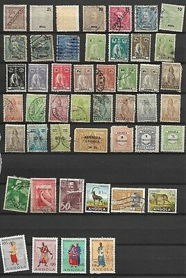 Collection of Early Angola Stamps