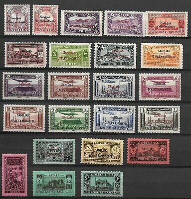 Mint Syria Stamps in a Stock Sheet