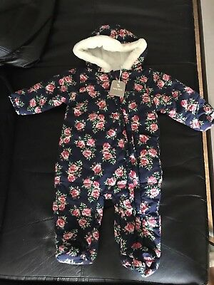 New Baby Girl Snowsuit 6-9months