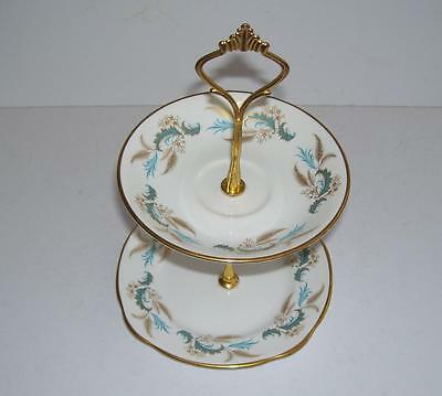 Duchess English Bone China  2 Tier Small Cake/Biscuit Stand.