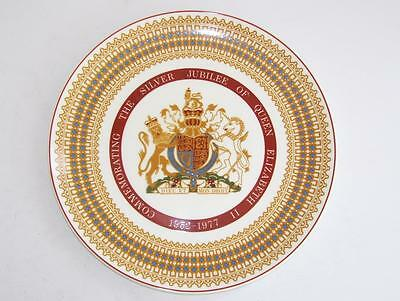 Royal Tuscan Fine English China Queen Elizabeth 11 Silver Jubilee Plate.c.1977.