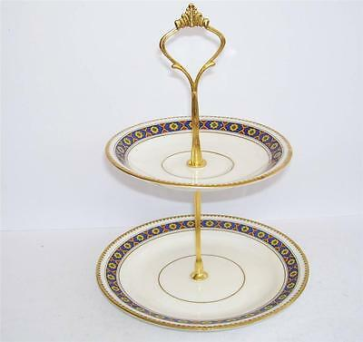 Art Deco Samuel Radford 2 Tier Small Cake/Biscuit Stand.