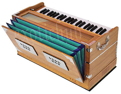 HARMONIUM~HAND MADE INDIAN ~TEAK COLOR~440Hz~EXTRA HEIGHT~LONG SUSTAIN SOUND~YOG