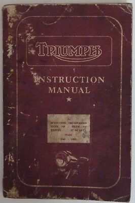 Triumph Instruction Manual for Motorcycles 1945-1955