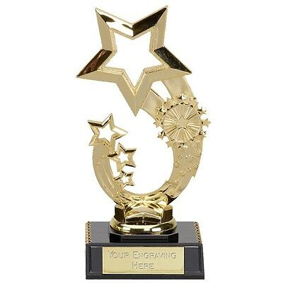 Budget Rising Star Trophy Award 2 Sizes Cheap Personalised FREE ENGRAVING