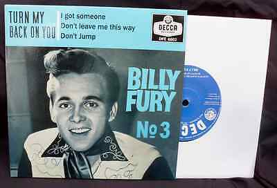 BILLY FURY No.3 EP. - FABULOUS QUALITY IN BOTH SOUND AND PACKAGING. HEAR IT