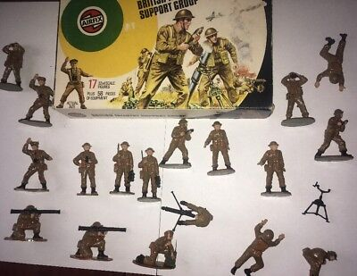 Vintage Boxed Airfix 1:32 British Infantry Support Group