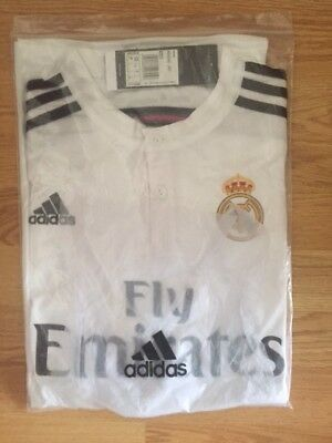 REAL MADRID FOOTBALL CLUB HOME SHIRT SMALL 2015/2016 Brand New with Tags