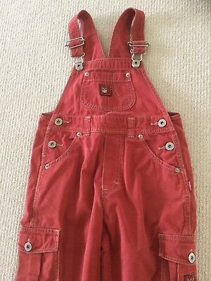 Pumpkin Patch Kids Overalls, Size 4, Red, Bib And Brace, Dungarees