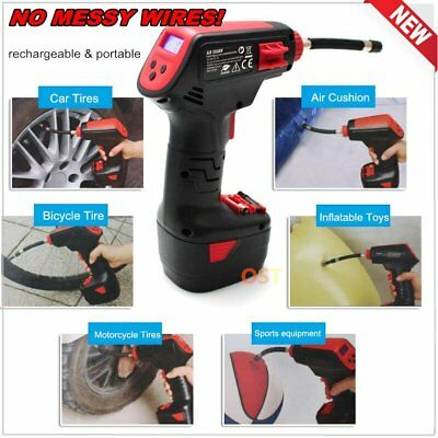 AIR DRAGON Compressor Cordless Handheld Digital Car Pump Inflator Rechargeable