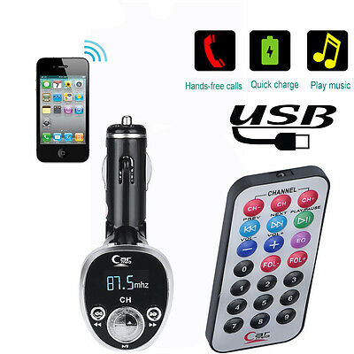 Car Kit MP3 Player FM Transmitter Wireless Radio Adapter USB Charger Silver