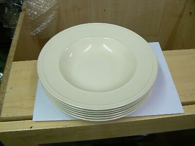 "Wedgwood Windsor Cream 9"" Rimmed Pasta soup pudding  Bowls 6 available"
