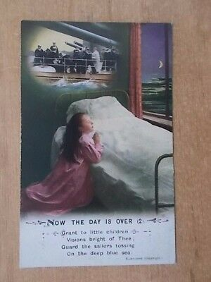 Vintage Ww1 Bamforth Song Card - Prayers For Those In Battle - 5032/2