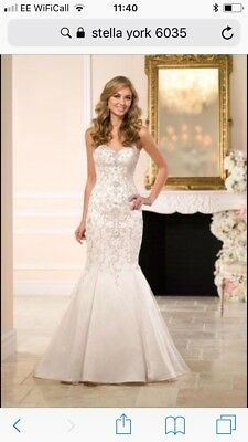 Stella York 6035 Wedding Dress - Champagne - sz12 UK