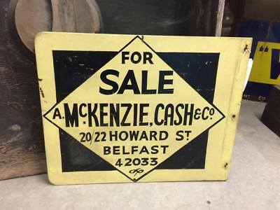Vintage McKenzie Cash & Co Howard St Belfast real estate sign
