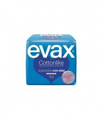 Evax Cottonlike Super Plus Compresa Con Alas 10 Uds