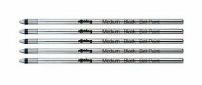 Rotring 891230 Tikky 3 in 1 Multipen Refill, D1 - Medium, Set of 5, Black