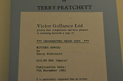 Witches Abroad by Terry Pratchett UNCORRECTED PROOF COPY Gollancz Discworld