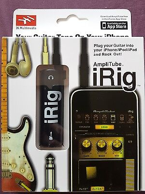 irig guitar interface for iPhone,  iPad & iPod touch