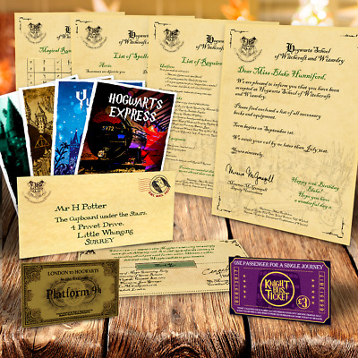 Harry Potter Personalised Acceptance Letter to Hogwarts Christmas Xmas Gift