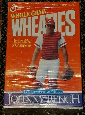 1989 Johnny Bench Wheaties Commemorative Edition Sealed Unopened!