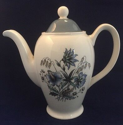 "Vintage ""Blue Meadow"" Coffee Pot by Wood & Sons"