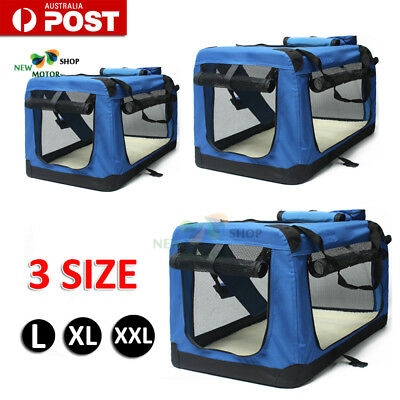 L/XL/XXL Foldable Dog Cage Crate Soft Sided Pet Carrier Training Kennel Portable