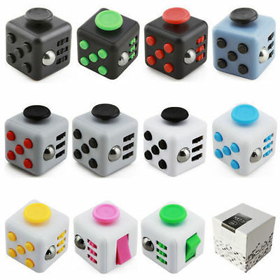 REAL Fidget Cube Dice 6-side Anxiety Stress Relief Fidgets Focus Toys