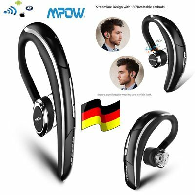 MPOW BLACK BLUETOOTH 4.1 HEADSET OHRHÖRER KOPFHÖRER For iPhone Samsung