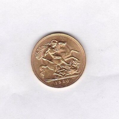 1930P Gold Full Sovereign In Extremely Fine Condition Perth Mint Mark