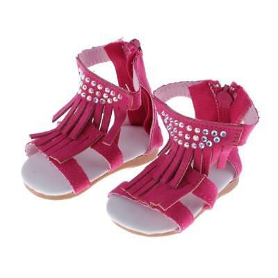 Doll Accessories Rose Tassel Sandals Shoes for 18 inch American Girl Doll