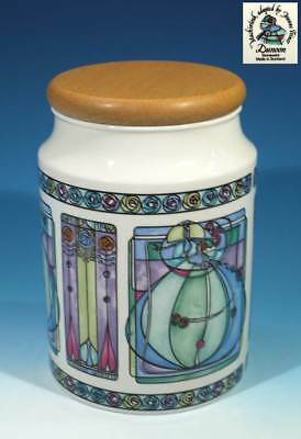 Superb Dunoon Stoneware Kitchen Storage Jar by Joanne Triner.