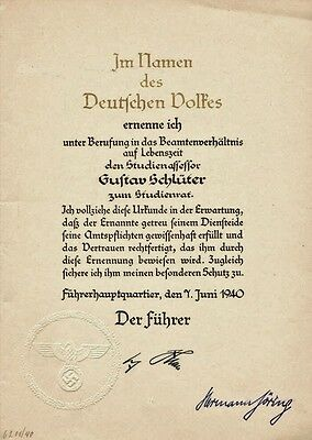 DOCUMENT ADOLF HITLER ET   HERMANN GOERING  Je precise que ce document est