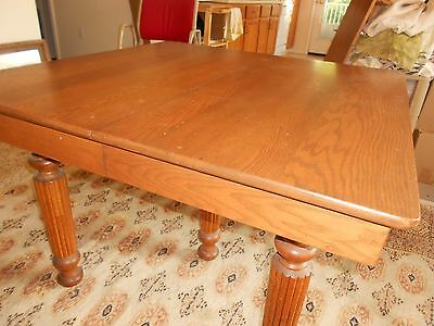 "DRAMATIC ADJUSTABLE DINING TABLE (42"" to 74"") with 8 ANTIQUE CHAIRS!"