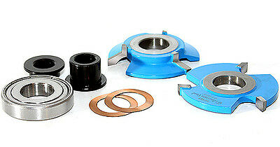 Amana Reversible Bevel-Shaker Stile/Rail Shaper Cutter Set